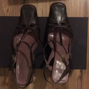 Prada purple t-strap shoes